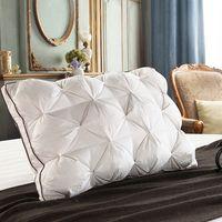 Peter Khanun 48*74 см роскошный 3D стиль прямоугольник белый гусиный/утиный пух перо постельные принадлежности подушки вниз-доказательство 100% хлопо...