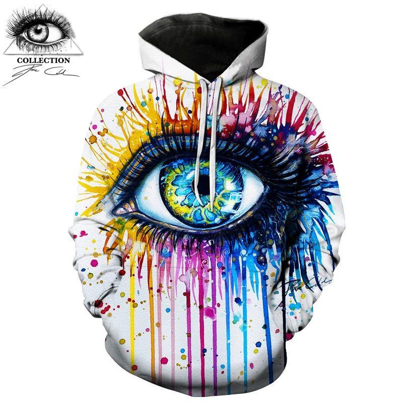 Rainbow eye By Pixie cold art Brand Hoodies Autumn 3D Sweatshirt Men Women Tracksuits Fashion Hoodies Streetwear New ZOOTOP BEAR