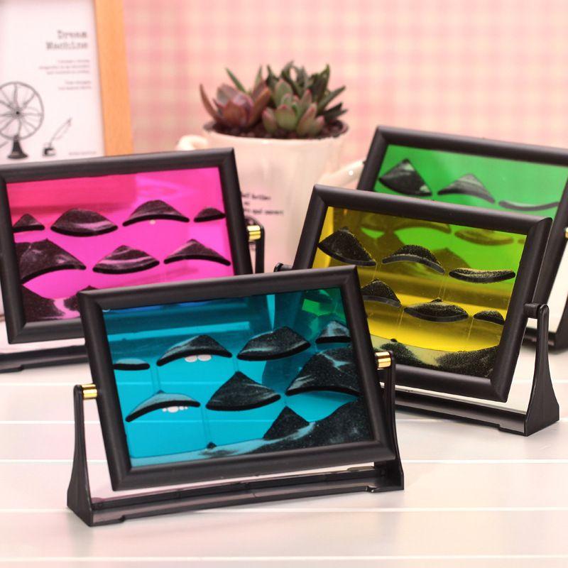 3D Sable peinture sablier Coloré peinture Paysage Nouveauté Cube Sablier peinture Féerique Charme Image Fille cadeau de Saint-Valentin