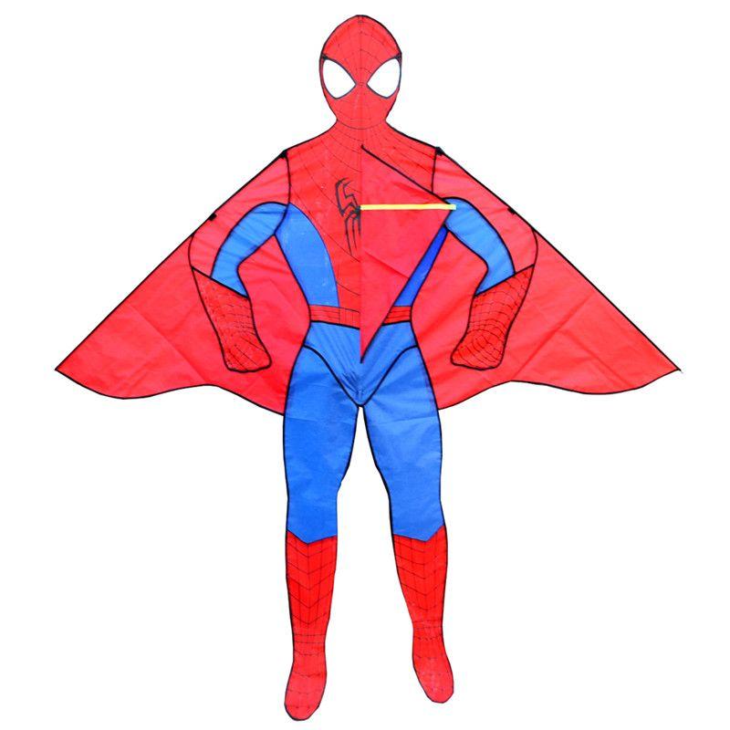 Livraison gratuite de haute qualité 2 m spiderman cerfs-volants avec poignée ligne jouets de plein air dessin animé cerf-volant enfant volant pieuvre roue weifang