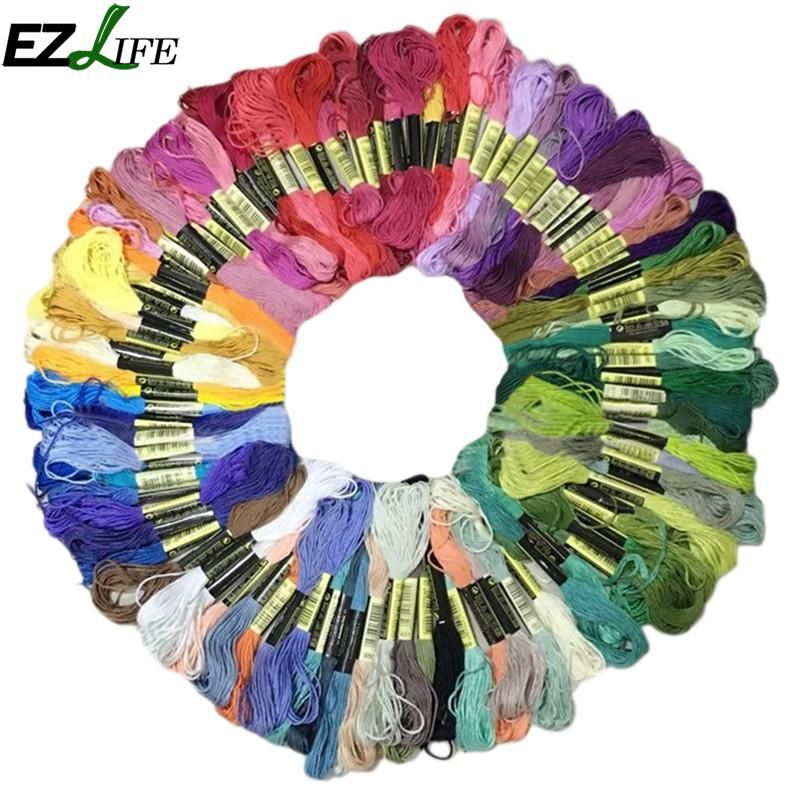 Cross Stitch Threads The Unique Style 50/100/150pc Mixed Colorful Similar Dmc Cotton Embroidery Thread Floss Sewing Skeins Craft