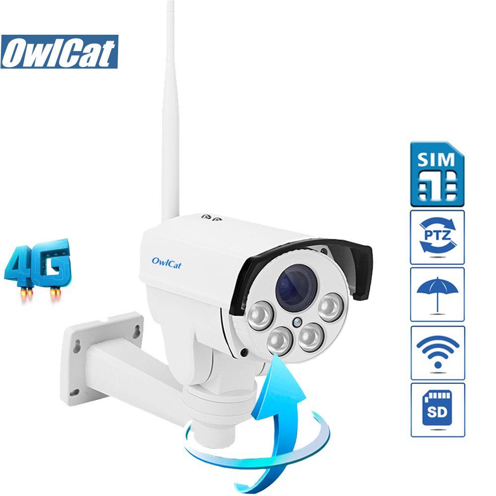OwlCat SONY323 HD 1080 p 960 p 5X Zoom Mise Au Point Automatique Bullet PTZ IP Caméra WIFI En Plein Air 4g SIM carte AP Mouvement CCTV Caméra Audio MIC