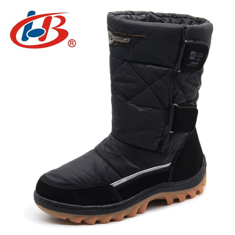 LIBANG 2017 Brand Men Winter Shoes Warm Male Winter Boots Snow Boots Winter Shoes for Men Fashion Soft Men Shoes Plus Size 41-46