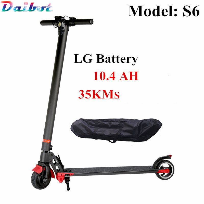 S6 LG Battery 10.4AH folding kick scooter Electric Scooter E-bike electric bicycle Alloy Two wheel standing smart hoverboard S3