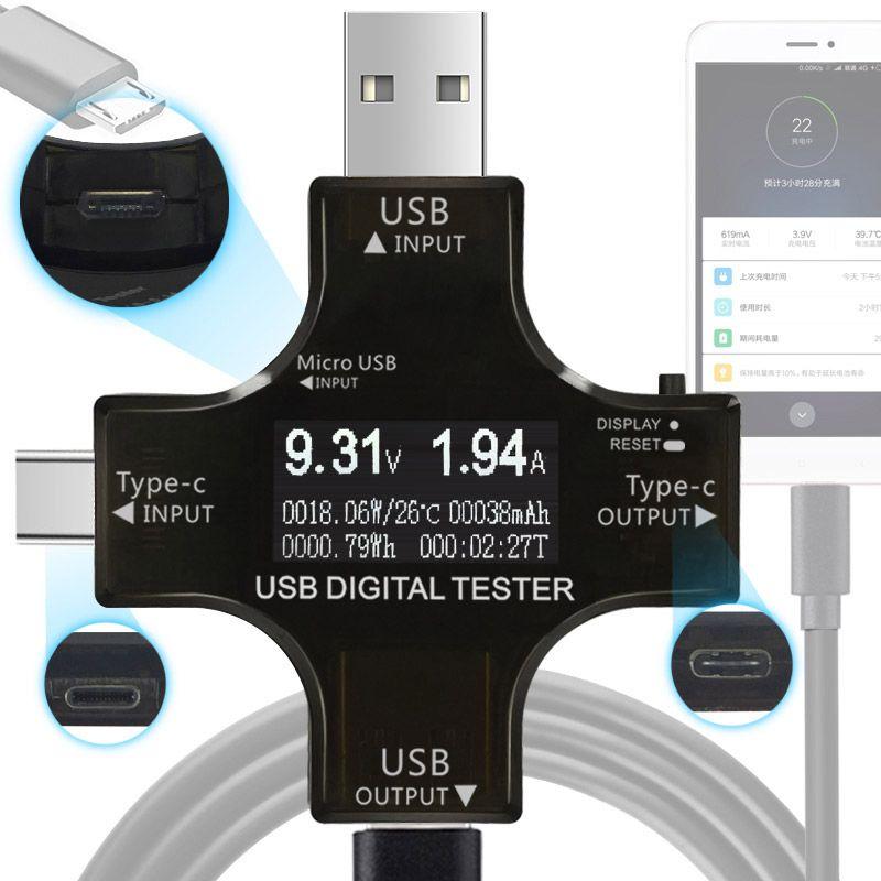 ATORCH Type-C pd USB testeur DC Numérique voltmètre amperimetor tension actuelle indicateur ampèremètre détecteur de puissance banque chargeur indicateur