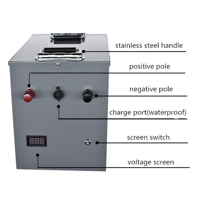High power 12V 24V 200AH 300AH 400AH Lithium-eisen phosphat li ionen Batterie für wohnmobile/outdoor notfall /angeln stromquelle