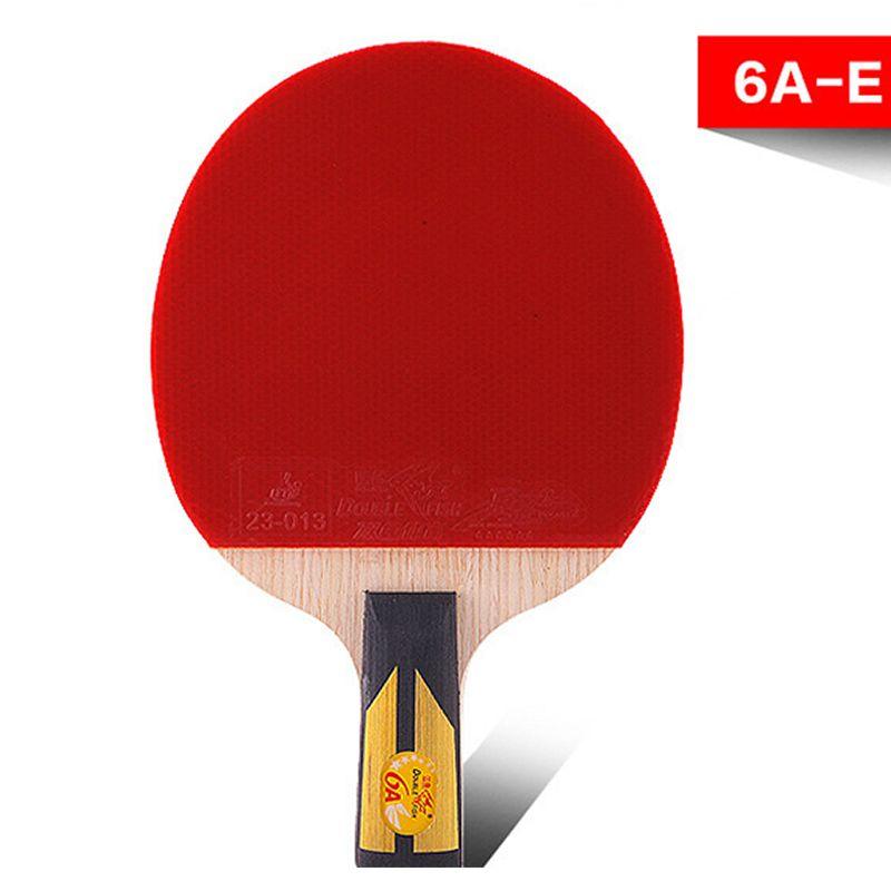 Спортивные товары подлинной двойной рыбы шесть-Star прямой захват ракетка для настольного тенниса двойной лица обратный клей 6a-e пинг-понга