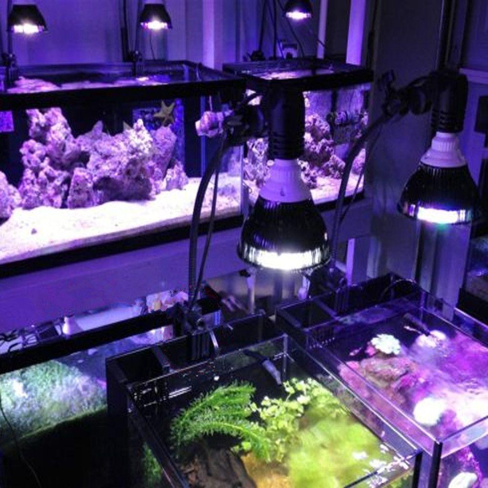 PAR38 Full Spectrum Aquarium LED Lamp E27 54W Led Aquarium Light Coral Reefs Tank Fish Tank Lamp Bulb for Aquatic Plants Growing