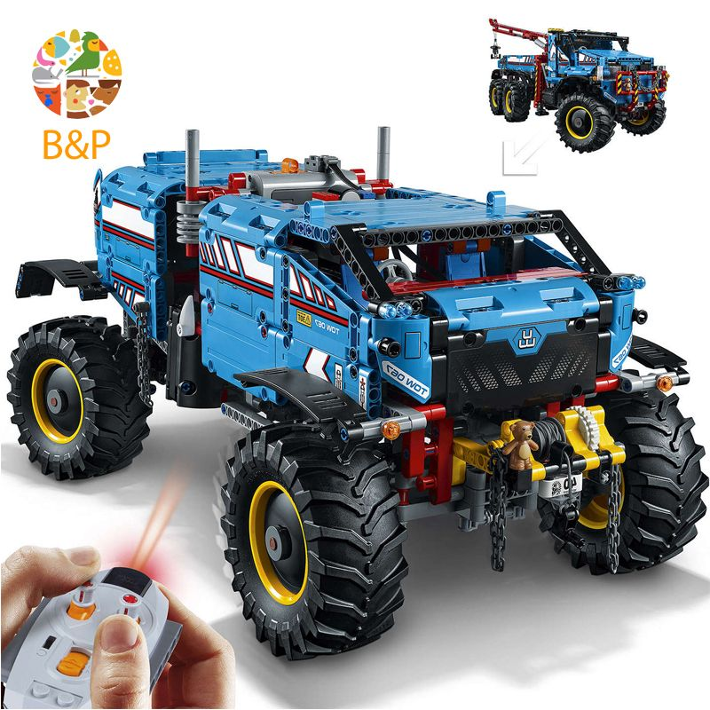 lepin Legoing Technic 20056 1912pcs The Ultimate All Terrain 6X6 Remote Control Truck Building Block 42070 Toys For Children