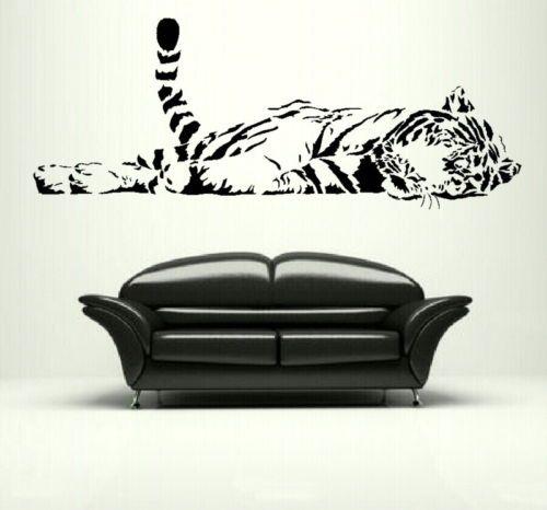 ZN G232 tigre du bengale grand chat Sticker mural/Lage décor intérieur/grand chat transfert art décoratif de salon stickers muraux