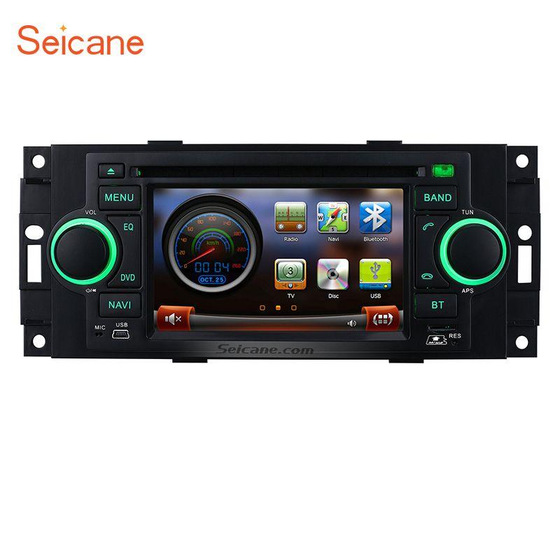 Seicane Auto Radio DVD-Player Kopf Einheit Multimedia GPS für Jeep Commander Compass Dodge RAM Chrysler 300 Wrangler Grand Cherokee