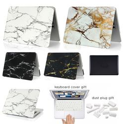 New For Macbook Air Pro Retina 11 12 13 15 Laptop Case Marble PC For Mac book Air Pro 13 15 Touch bar A1932 A1989 Keyboard Cover