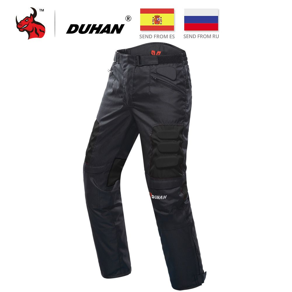 DUHAN Motorcycle Pants Motocross Pants Black Moto Pants Motocross Off-Road Racing Sports Knee Protective Motorcycle Trousers