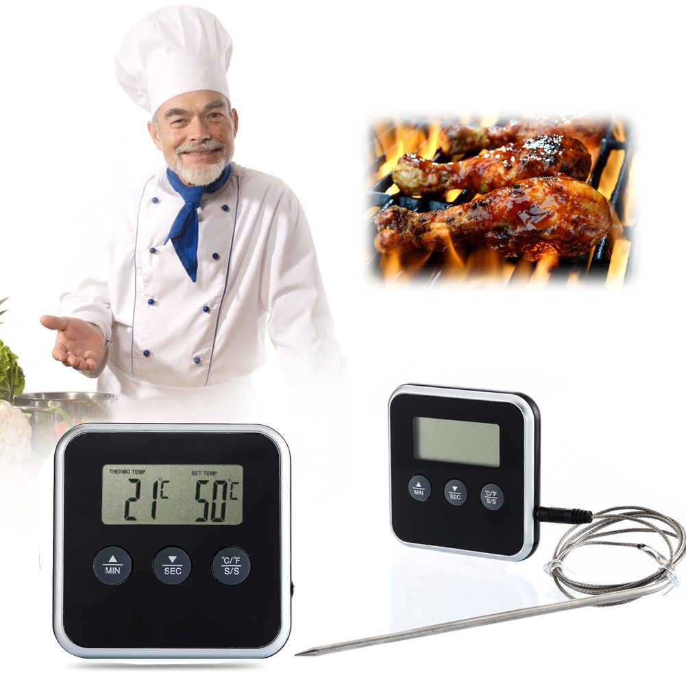 Garden Supplies Eddingtons Digital Professional Timer Meat Thermometer Remote Probe Oven Thermometer