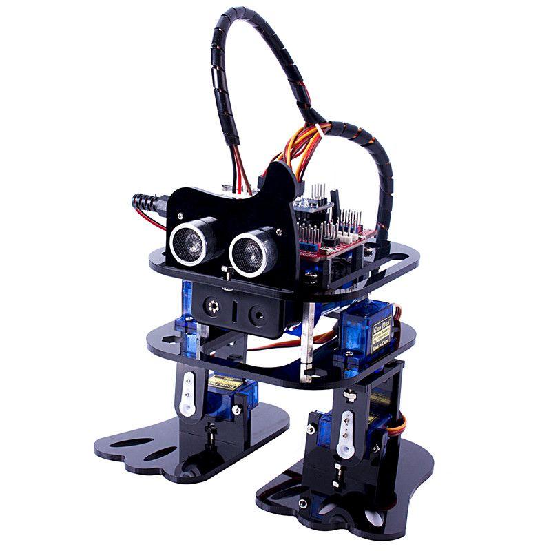 SunFounder DIY 4-DOF <font><b>Robot</b></font> Kit- Sloth Learning Kit Programmable Dancing <font><b>Robot</b></font> Kit For Arduino Nano Electronic Toy