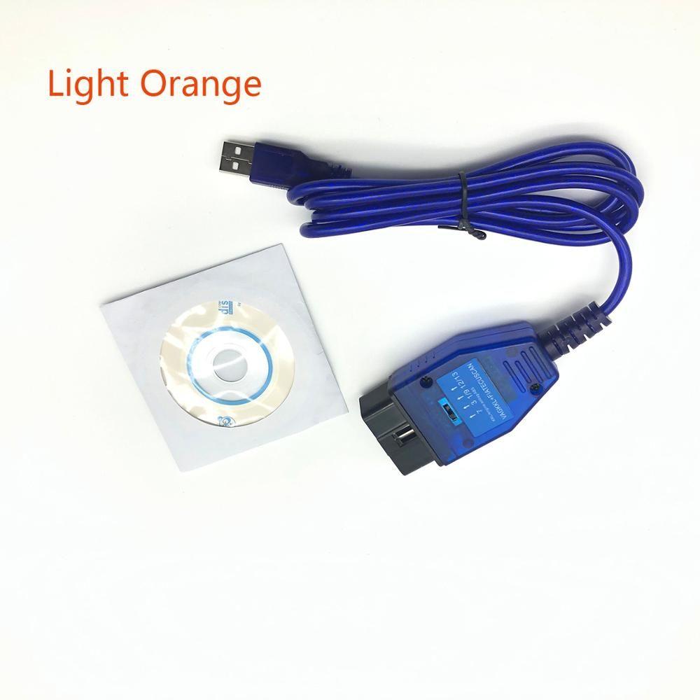 OBD 2 FT232RL puce USB câble KKL VAG-COM 409.1 OBD2 OBDII Scanner de Diagnostic pour VW Audi Seat Skoda