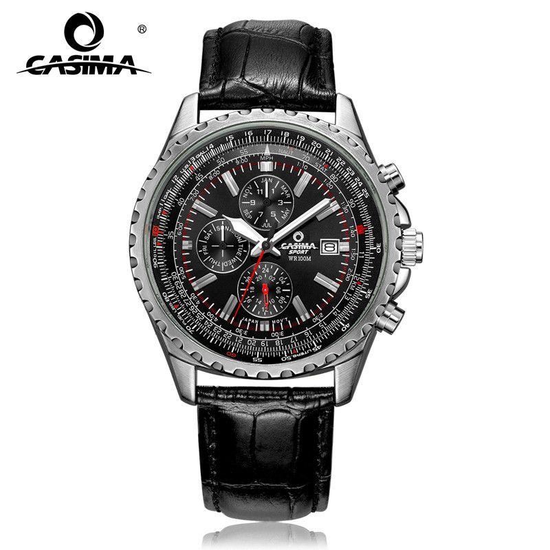 <font><b>Luxury</b></font> brand watches men fashion classic sport mens quartz wrist watch relogio masculino waterproof 100m CASIMA#8882
