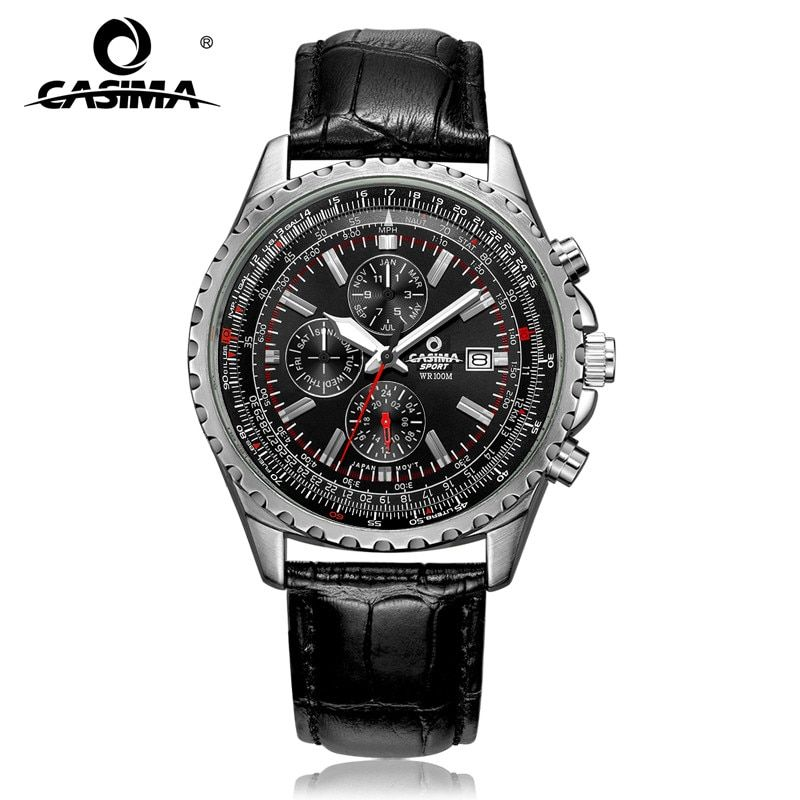 Luxury brand watches men fashion classic sport mens <font><b>quartz</b></font> wrist watch relogio masculino waterproof 100m CASIMA#8882