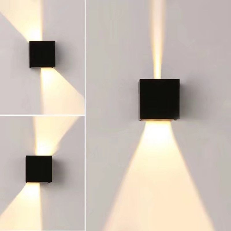 Modern Waterproof <font><b>Cube</b></font> Adjustable 12W COB outdoor LED wall lamp IP65 Aluminum Wall Lights Garden porch Sconce Decoration Light