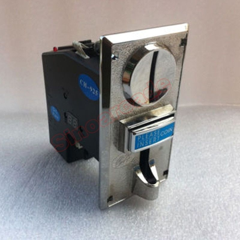 JY-925 Zinc Alloy Front Plate CPU Multi coin Acceptor Coins Selector for Vending Arcade machine, accept 5 type of coins