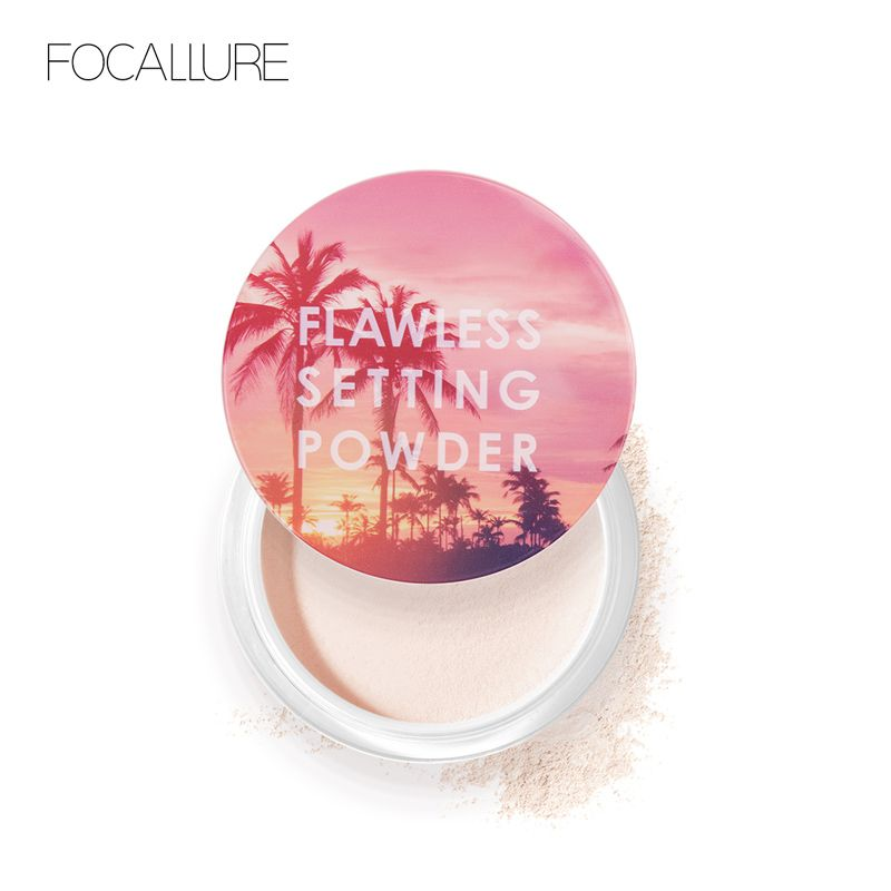 FOCALLURE New Top Quality Loose Powder Translucent Light Smooth Setting Powder Waterproof Oil-control Velvety Face Makeup