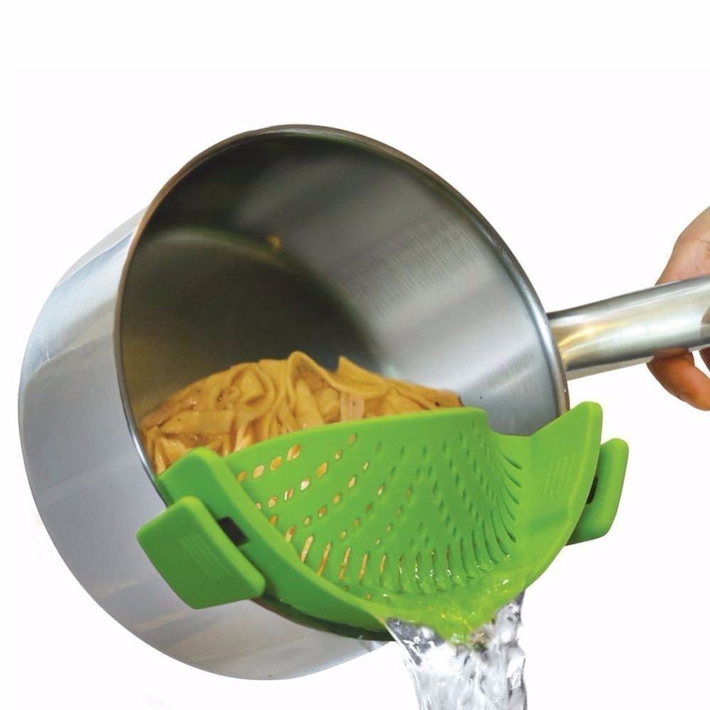 Passoire Silicone pince cuisine sur marmite passoire egouttoir pour vidange excès liquide Univers vidange pâtes légumes ustensiles de cuisine