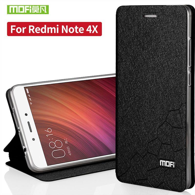 Xiaomi redmi note 4x cas de silicium TPU retour flip en cuir couverture d'origine xiaomi redmi note4x cas dur funda ultra mince capas 5.5