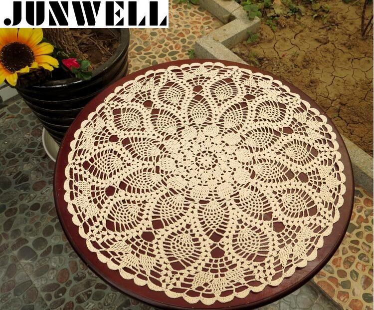 50/60 CM RD Shabby Chic 2 tailles Vintage Crochet nappe fait main Crochet sous-verres coton dentelle tasse tapis napperon