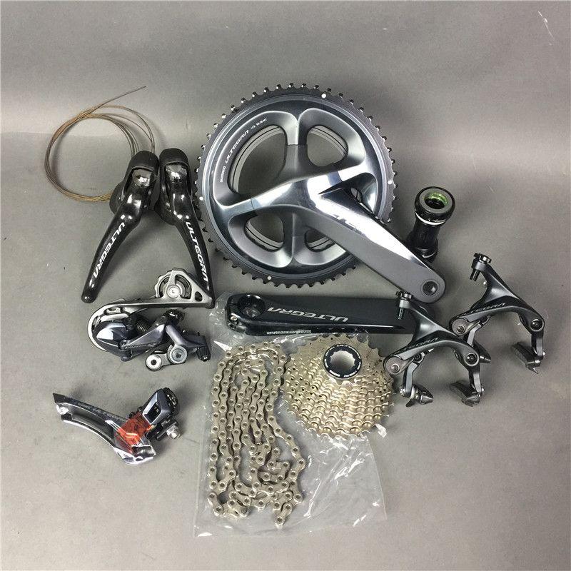 Shimano R8000 kurbelsätze auf lager!! Ultegra Rennrad Groupset 165/170/172,5/175mm 50-34 52-36 53-39 Fahrrad Gruppe Set 2*11 geschwindigkeit