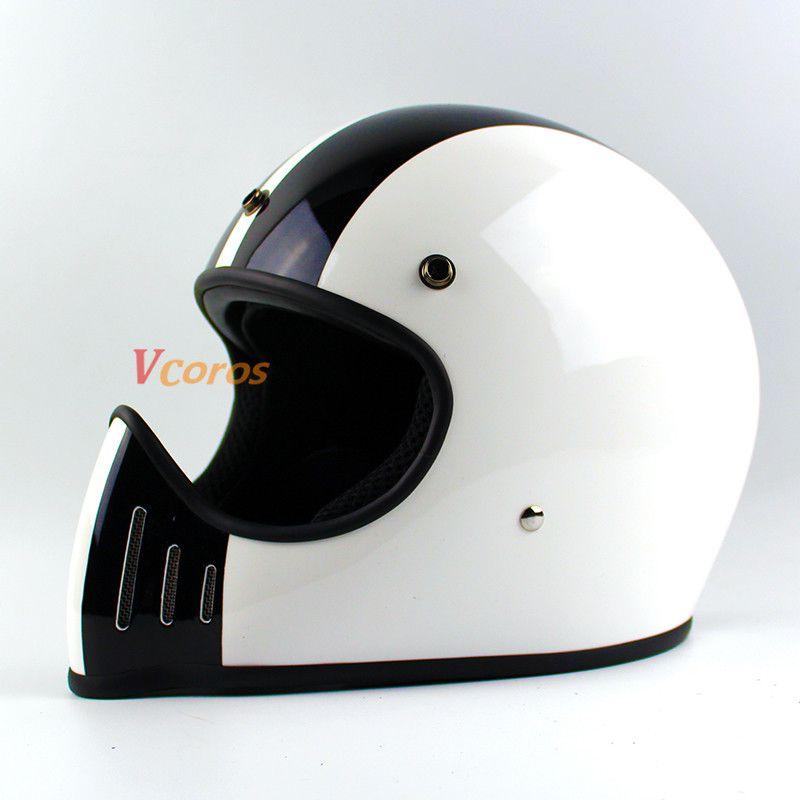 TT & CO Japanischen Thompson Männer motorrad helm vintage full face motorrad helm Ghost Rider racing shiny helme motocicleta