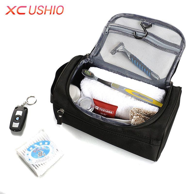 Fashion Portable Men Travel Business Toiletry Bag Waterproof Large Capacity Women Storage Organizer Bag Mens Wash Bag