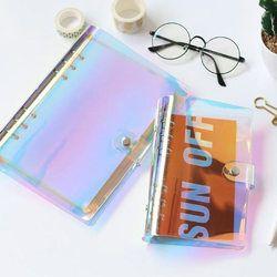 2019 Baru A5 A6 PVC Hologram Binder Lepas Notebook Diary Daun Longgar Buku Catatan Alat Kantor
