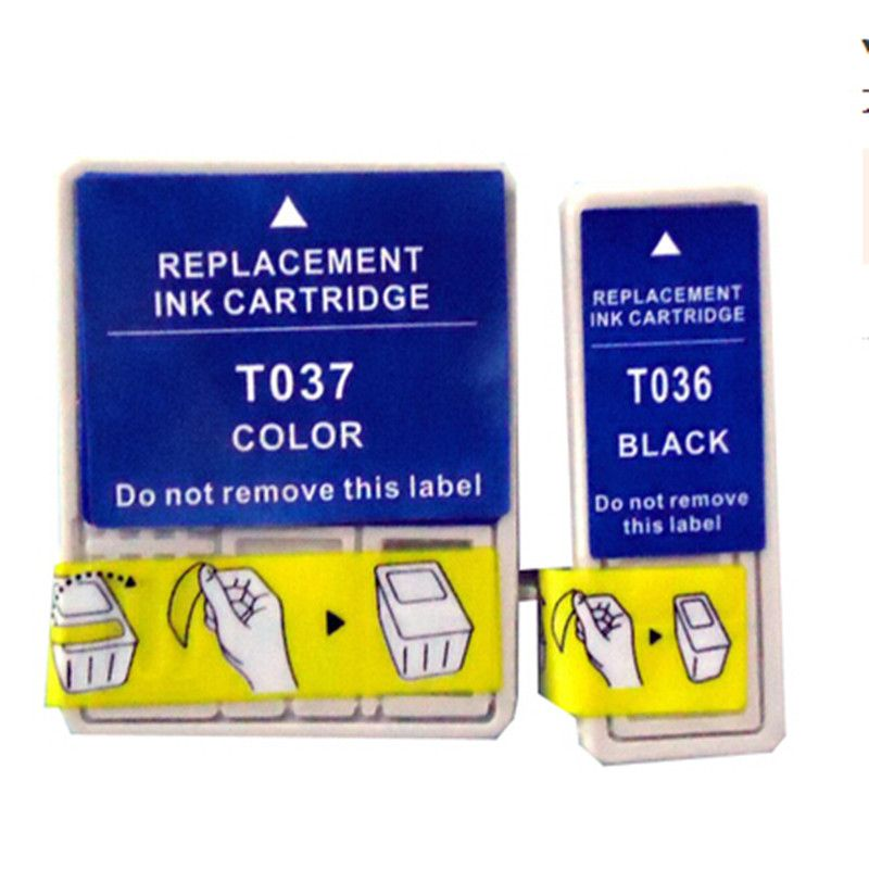 Compatible for Epson T036 T037 Ink Cartridge For Epson Stylus C42UX/C44UX/C46 Ink jet Printer Free Shipping 2017