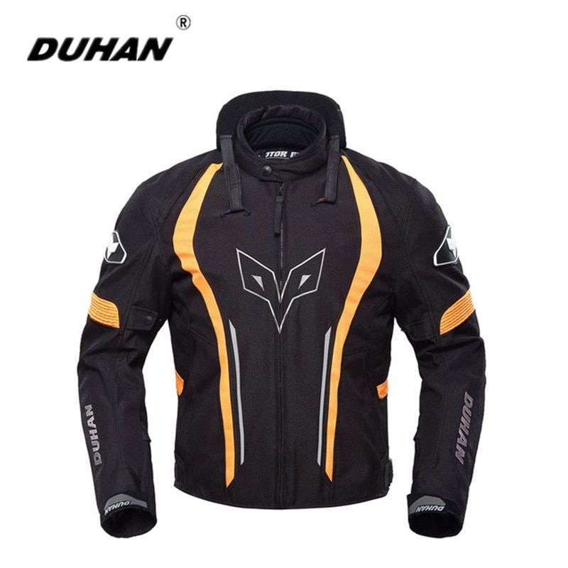 DUHAN Motorcycle Jacket Winter Outdoor Racing Sprots Windproof Waterproof Riding Protective With Five Protector Racing Clothing