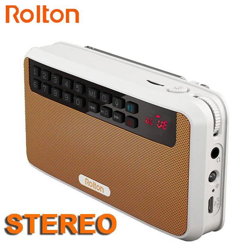 Rolton E500 Stéréo Bluetooth haut-parleur FM Radio Portable Haut-Parleur Radio Mp3 Écouter cet enregistrement Sonore Main Libre pour Téléphone Et lampe de Poche