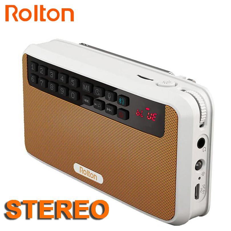 Rolton E500 Stereo Bluetooth speaker FM Radio Portable Speaker Radio Mp3 Play Sound recording Hand Free for Phone And <font><b>Flashlight</b></font>