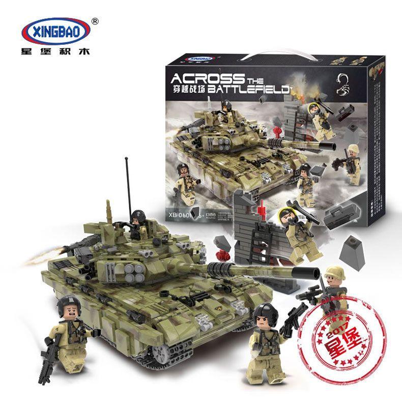 XINGBAO 06015 Veritable 1386 Pcs Militaire Serie Le Scorpion Tigre Reservoir Ensemble Blocs de Construction Briques Educatifs De