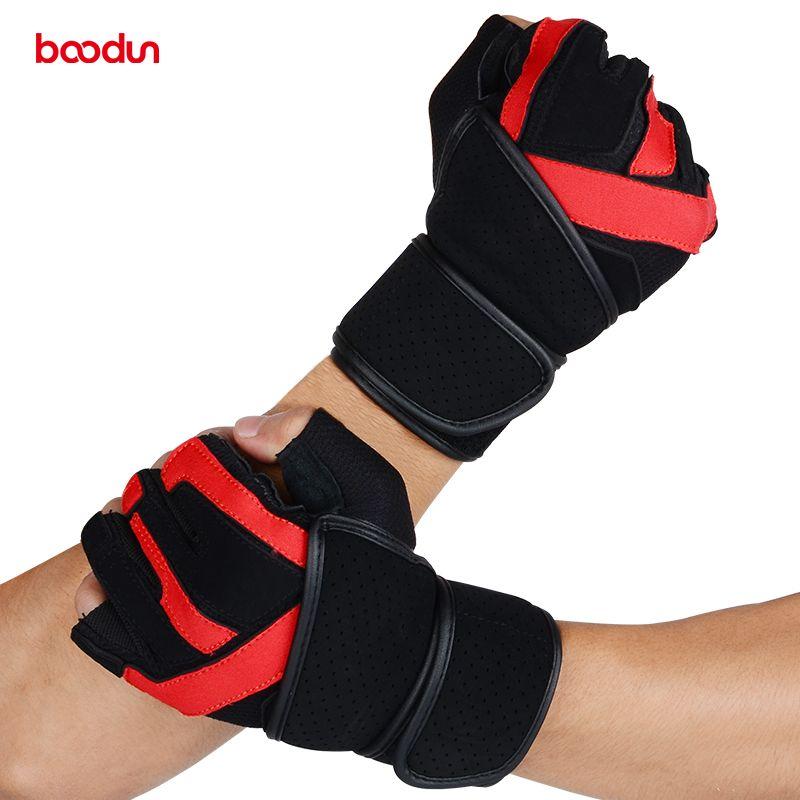 Sport Fitness Gloves Gym Men Genuine Leather Gloves Dumbbell Wrist Wear-resistant Bell Exercise Gloves Women