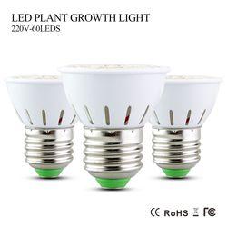 Full Spectrum 5W LED Grow Light AC 220V E27 41 Red + 19 Blue 60LEDs Lamp Bulb the Lights for Plants Flowers Hydroponics Indoor H