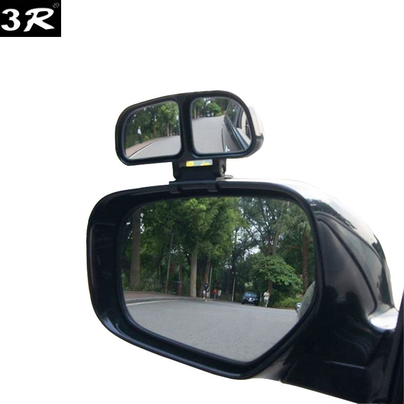 1piece Original 3R blind spot Square mirror auto Wide Angle Side Rear view Mirror Car Double convex mirror universal for parking