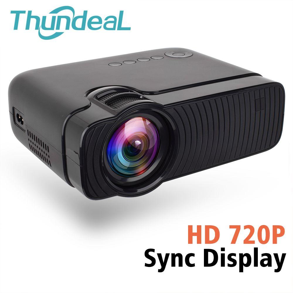 ThundeaL TD30 Max Projektor 1280*720 HD 2400 Lumen Video 3D Proyector Verdrahtete Sync Display Telefon Multi Bildschirm Mini LED Projektor