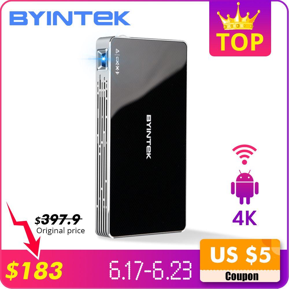 BYINTEK UFO P10 poche Home cinéma Portable intelligente Android 7.1.2 OS Wifi Mini HD projecteur LED pour Full HD1080P MAX 4 K HDMI
