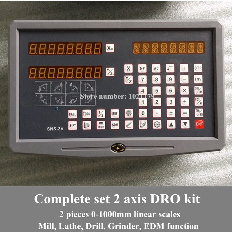 Freies verschiffen drehmaschine/fräsen/bohren/EDM/CNC maschine 2 achsen digital anzeige DRO und lineare skala /linear sensor