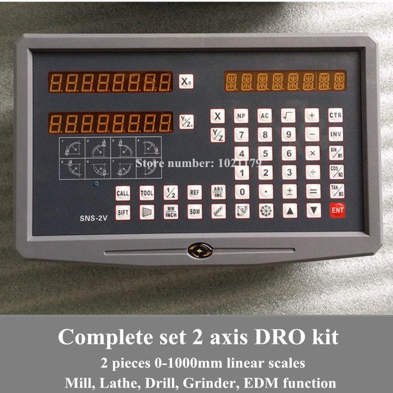 Freies verschiffen drehmaschine/fräsen/bohrer/EDM/CNC maschine 2 achsen digitalanzeige DRO und lineare skala/linear sensor