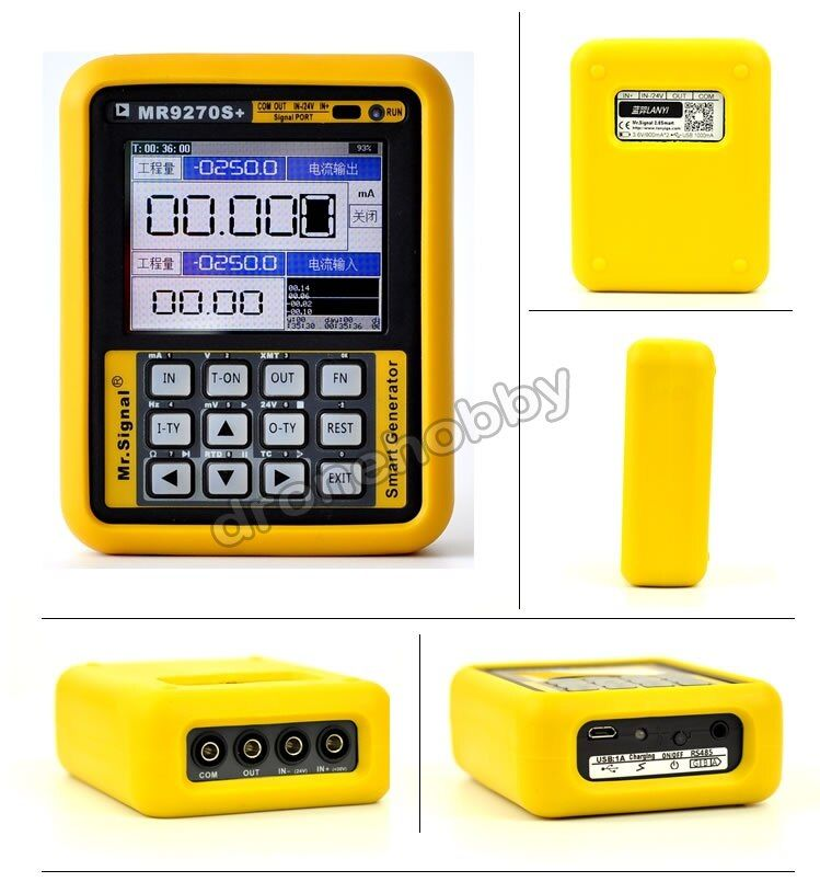 4-20mA signal generator kalibrierung Strom spannung PT100 thermoelement Druck sender Logger PID frequenz MR9270S +