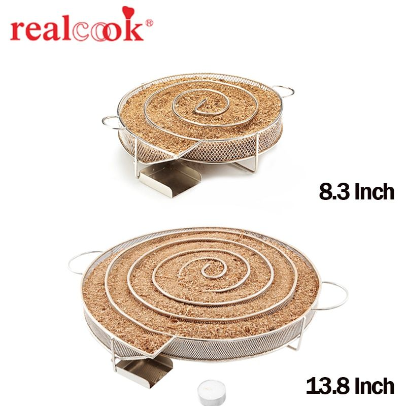 13.78-inch Cold Smoke Generator Charcoal Barbecue Grill Cooking Tools Wood <font><b>Chip</b></font> Smoker Smoking Outdoor Grill For BBQ Tool Acces