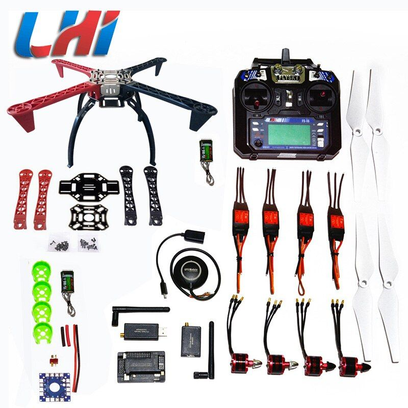DIY LHI F450 Quadcopter Kit APM2.8 Rahmen Hubschrauber Rack APM2.6 und 6 Mt 7 Mt N8M GPS brushless motor