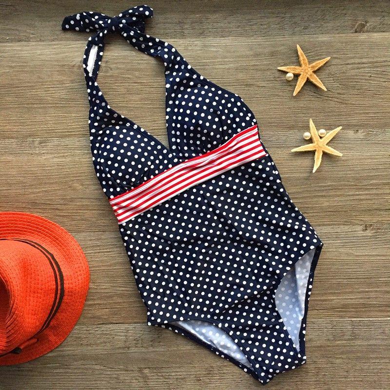 2018 vente au détail nouveauté filles une pièce Dot maillots de bain pour 8-12 ans enfants maillots de bain enfants étudiants adolescents filles maillots de bain
