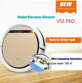 Smart V5S PRO Robot Vacuum Cleaner Wet and Dry Clean MOP Water Tank HEPA Filter,Ciff Sensor,Self Charge ROBOT ASPIRADOR
