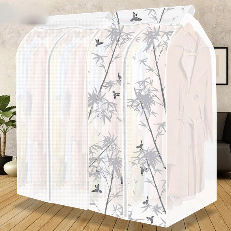 Grande Capacité Maison Vêtements Vêtements Costume Manteau Suspendus Organisateur Poussière Protecteur Garde-Robe Des Ménages Sac De Stockage